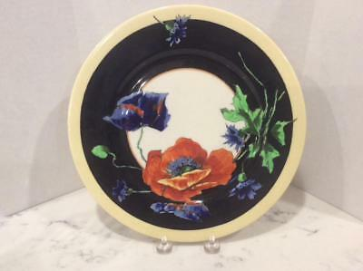Syracuse China Old Ivory Nature Study Dinner Plate, Poppies No. 10,  O.P.Co.