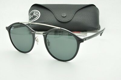 945c96a3f4b RAY BAN RB4266 601 71 Round Black Sunglasses Green lenses 49mm ...