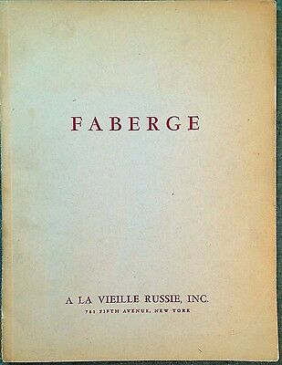 Rare! The Art Of Faberge - A La Vieille Russie - Exhibition Catalogue - 1961 Ny