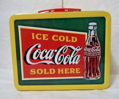 NWT Official Coca Cola Collectible Tin Lunch Box (Item #8625)