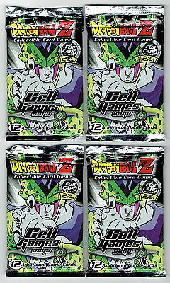 Dragonball Z CCG Cell Games Saga Limited Booster Packs--Factory Sealed Lot of 4