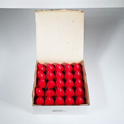 Vintage Up North Double Color-Lock Indoor Outdoor Ceramic Red C-9 Bulbs 25-pack