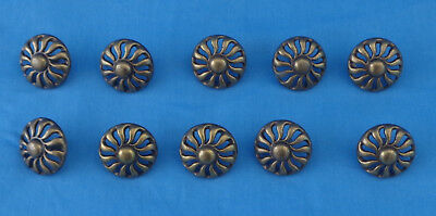 10 vintage KBC brass drawer pulls , 2489L, for wood working projects and crafts