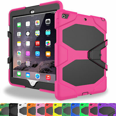 For iPad Air 1/ Air 2 Shockproof Heavy Rugged Hybrid Armor Stand Hard Case Cover