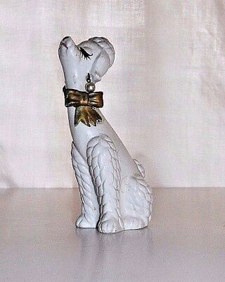 POODLE with Earrings FIGURINE, NAPCOWARE C-6469 4 3/4 Inches COLLECTIBLE