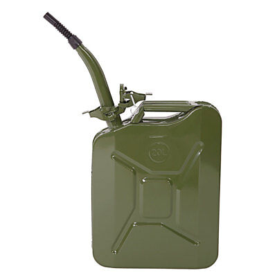 Steel Petrol Can 20 Litre Jerry Military Metal Can Fuel Oil Tank With Spout