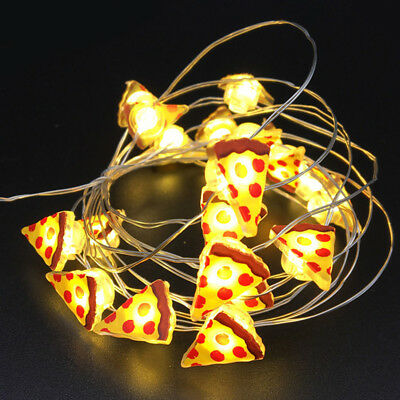 20 led funny pizza string light lamp xmas party decoration curtain