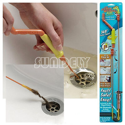 NEW Drain Weasel Sink Cleaner Drain Unblocker Hair clogs and Waste kit