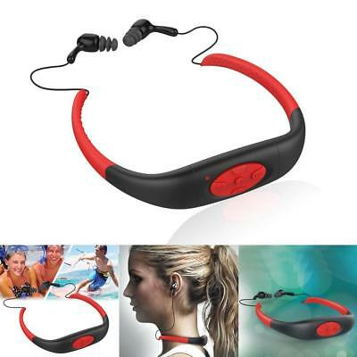 8GB Waterproof For Swimming Surfing Diving Sport Headset MP3 Player FM Radio YX