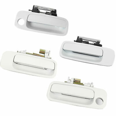 For 97-01 Toyota Camry Outside Door Handle 051 Diamond White Pearl Set of 4PCS