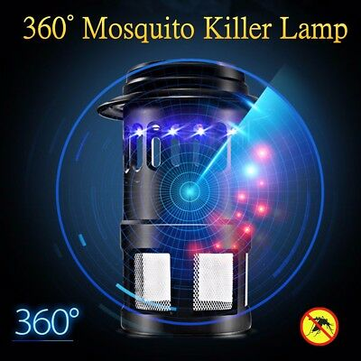 Electric Mosquito Killer Lamp LED Light Fly Bug Insect Zapper Trap Catcher AU