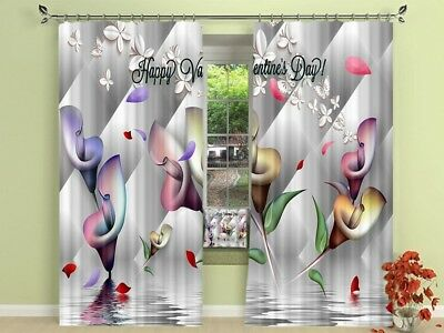 3D Flowers 53 Blockout Photo Curtain Printing Drapes Fabric Window CA Carly