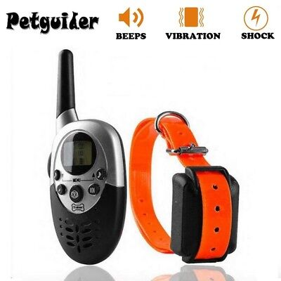 Dog Training Collar 1000m LCD Waterproof Rechargeable Electric Tool Remote