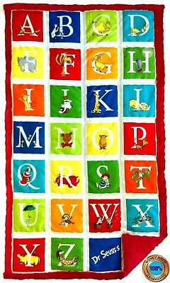 "Weighted Blanket Weighted Lap Pad - 8 lbs - 25"" x 45"" - Alphabet Seuss"