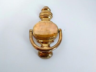 "Solid Brass Chunky Door Knocker  7"" H"