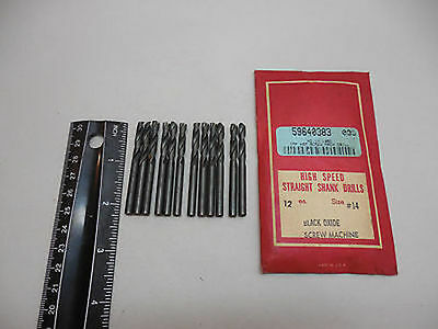 No. 14 Screw machine Drill Bits 135 degree Pack of 12 HSS  USA