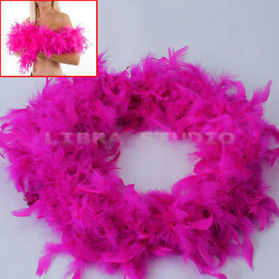 2M Fluffy Feather Boa Strip Rose Red Fancy Dressup Party Wedding Decoration