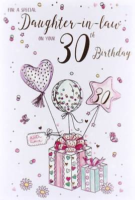 ICG Daughter In Law 30th Birthday Card