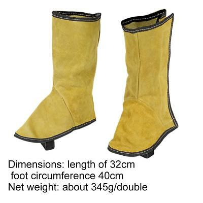 2pcs Welding Protective Shoes Overshoes Cow Leather Foot Cover For Welder Worker