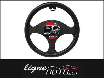 Couvre volant noir aspect cuir auto voiture camping car tuning