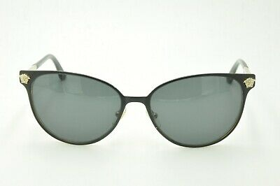 5a0444a06c7 VERSACE BLACK SUNGLASSES 2168 1377 T3 Polarized Gray lenses 57mm ...