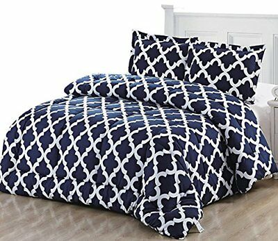 Printed Comforter Set with 2 Pillow Shams - Luxurious Soft Brushed Microfiber