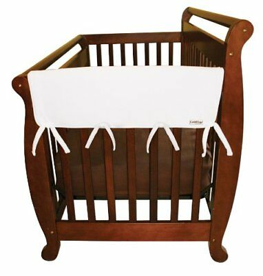 Trend Lab Fleece CribWrap Rail Covers for Crib Sides (Set of 2), White, Wi..