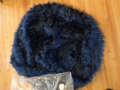 f6d64f7865 Pottery Barn TEEN NAVY FUR-RIFIC LARGE BEANBAG SLIPCOVER-NEW~41