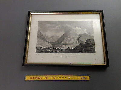 Antique litho mountain pastures mountain Mount of Arcines val guisanne,neckband