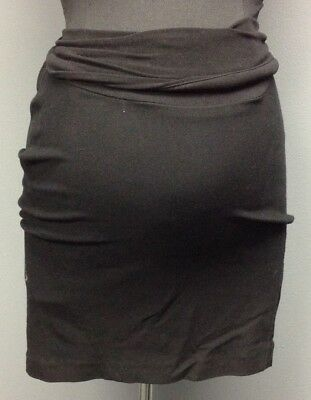 A PEA IN THE POD Black Wide Fold Over Waistband Maternity Skirt Sz M DD8713