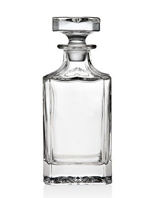 James Scott Crystal Whiskey, Wine and Liquor Square Decanter with