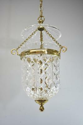 Crystal & Brass 3 Light Chandelier Light Fixture By Waterford