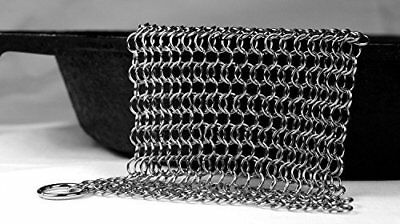 Knapp Made Small Ring Chainmail Scrubber - For Cast Iron, Premium Stainless