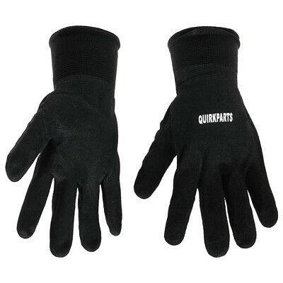 100 PAIRS Of BRAND NEW Black Lined Protection Sandy Nitrile Coated Winter Gloves