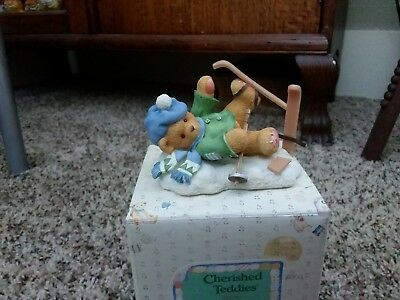 Spencer - I'm Head Over Skis For You - Cherished Teddies Figurine #269743