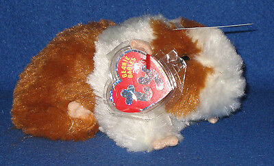 TY FLUFFBALL the HAMSTER  2.0 BEANIE BABY - MINT with MINT TAGS - UNUSED CODE