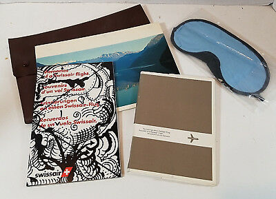 Vintage Swissair Airlines Collectibles Lot Kurt Wirth Cards Aviation 1960s-1970s