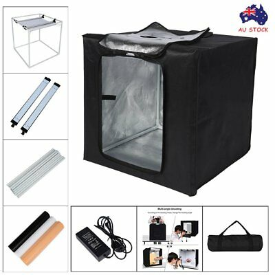 40cm LED Light Tent Square Photo Studio Softbox +3 x Background Backdrops Kit