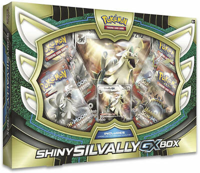 Shiny Silvally GX Collection Box Sealed Pokemon Trading Card Game TCG 4 Boosters