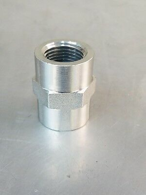 """5000-04-04  Hydraulic Adapter Fitting 1/4"""" X 1/4"""" Female Pipe Coupling"""