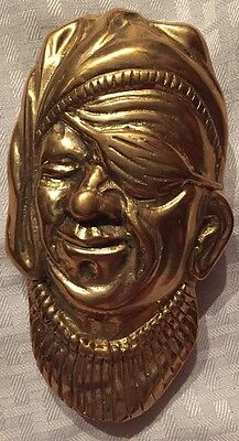 vintage Cast Brass PIRATE DOOR KNOCKER