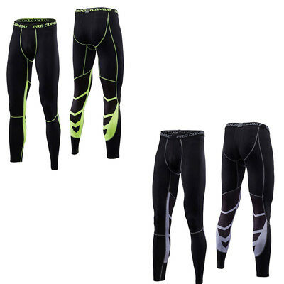 Mens Compression Sports Armour Base Layer Underwear Tights Fitness Long Pants