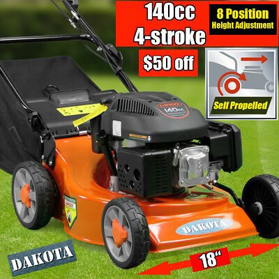 "NEW DAKOTA 18"" Lawnmower 140cc 4-stroke Self Propelled Lawn Mower Demo"