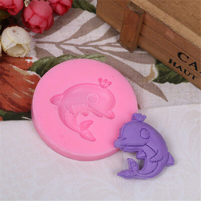 Cartoon Dolphin Silicone Mold Soap Molds Sugarcraft Cake Decoration Tools JR