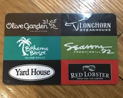 50 darden gift card olive garden longhorn yard house - Olive garden gift card at red lobster ...
