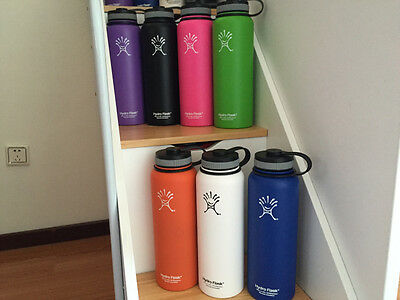 32/40oz Hydro Flask Insulated Stainless Steel Water Bottle Wide Mouth