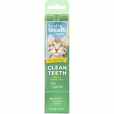 Fresh Breath Clean Teeth Gel Oral Care Removes Plaque Tartar No Brushing Cats