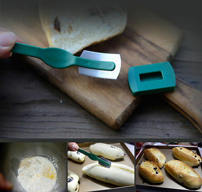 HIC Baker Dough Fixed Blades Grignette Lame Blade&Cover, Bread Sandwich Toast..