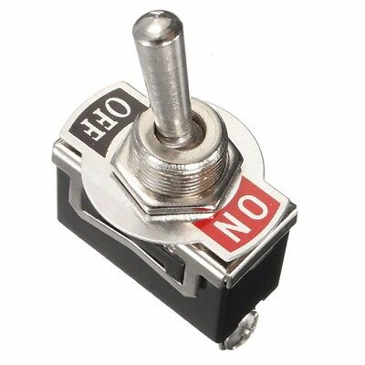 Heavy Duty ON/OFF Small SPST Toggle Switch Miniature With Waterproof Cover 12V