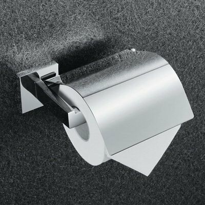 KES SUS 304 Stainless Steel Toilet Paper Roll Holder with Cover Wall Mount